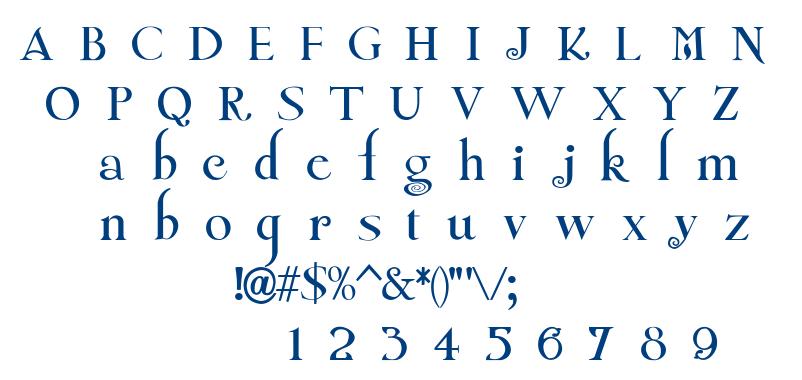 Twilight New Moon font