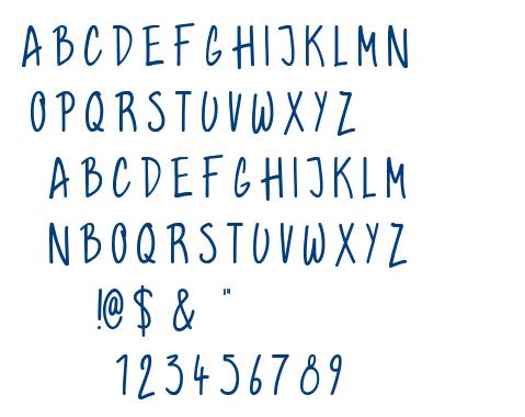 Graham Hand font