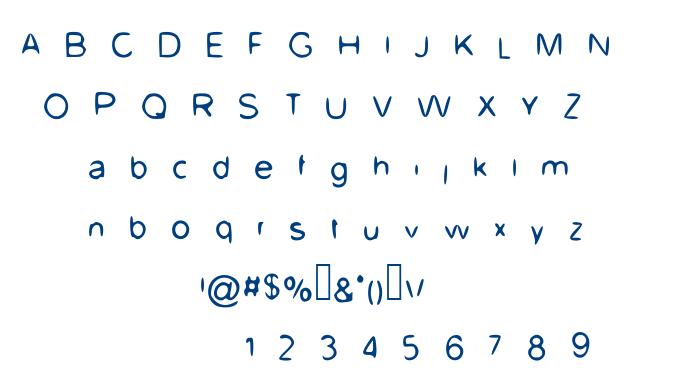 UpDown font