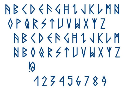 Comic Runes font