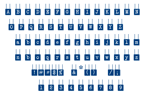 Hang Board 123 font