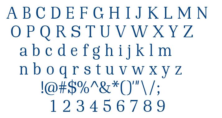 Tekia font