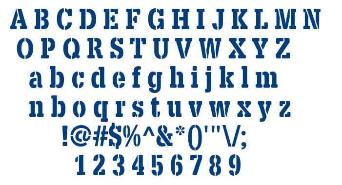 X.Template font