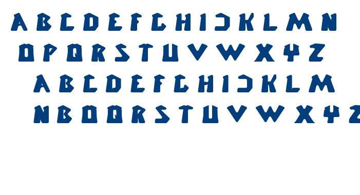 CHUNKY BAR font
