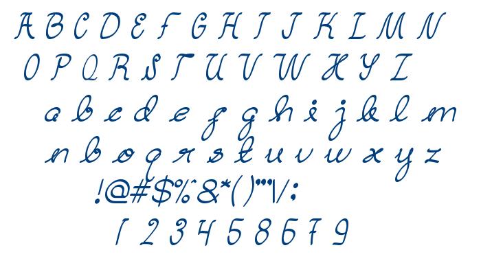 Dear Diary font