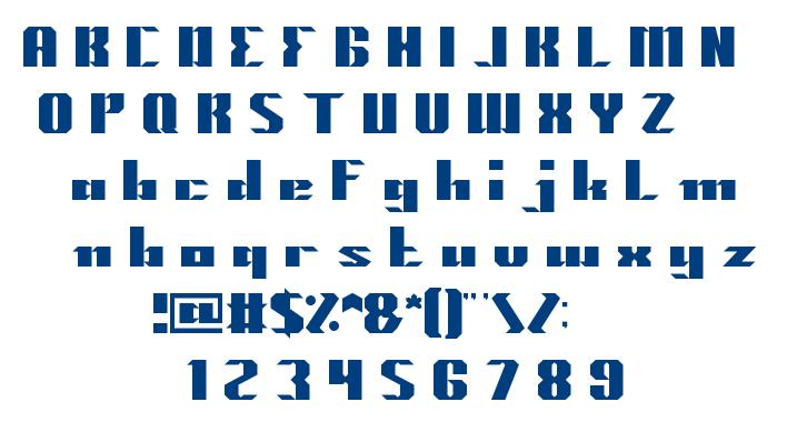 MACHINE GUN font