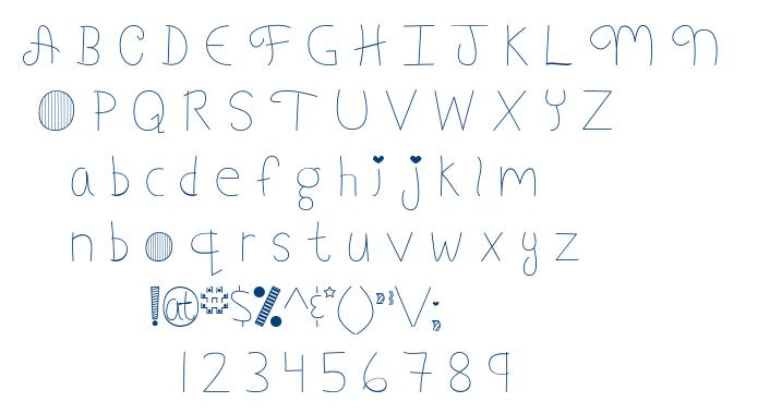 My Font Addiction font