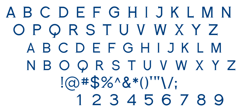 Romanesque Serif font