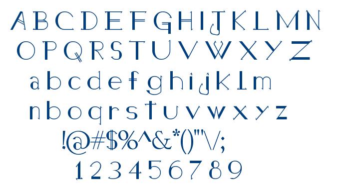 Holitter Halfimp font