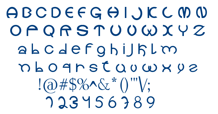 Holitter Circle font
