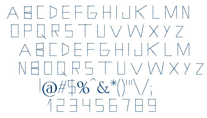 Holitter Phosphorus font