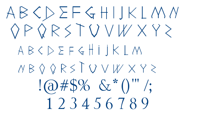 Holitter Shadow font