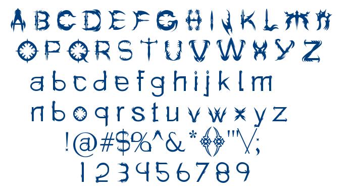 Holitter Spike font
