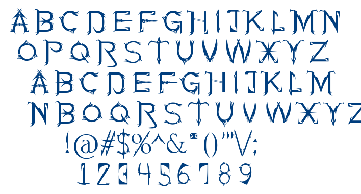 Soul Of Holitter font