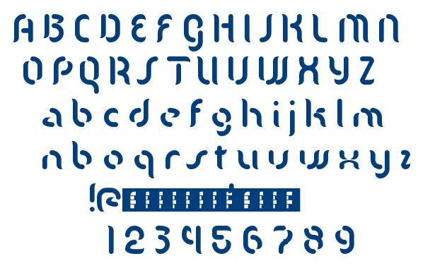 Mgla font