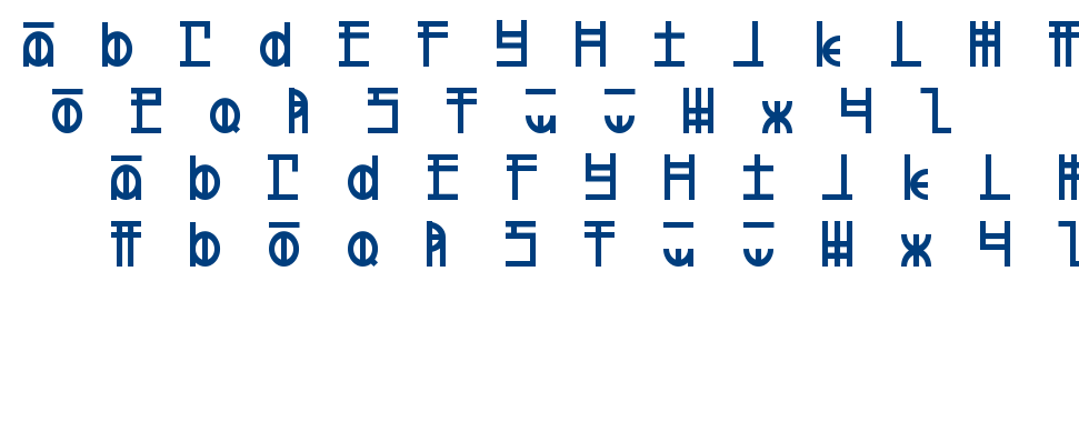 Defeated font
