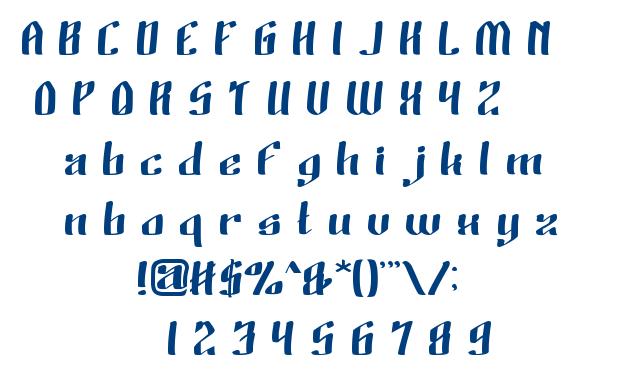 Wino Sutarmin Kadir font