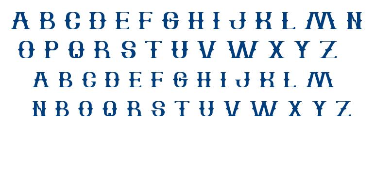 The Bartender font