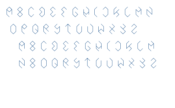 inside the boxes font