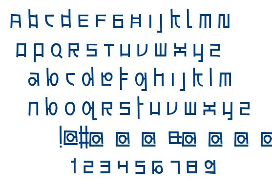 Awesome South Korea font