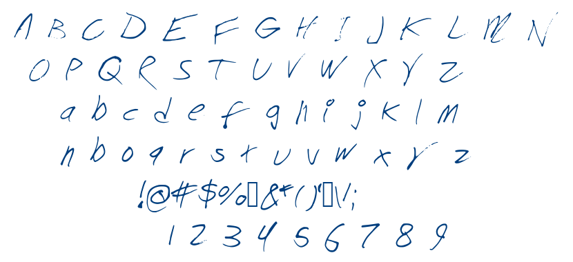 Chicken Scratch font
