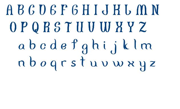 FISHERMAN font