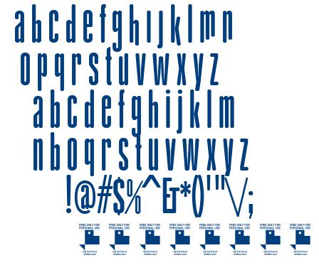 gAbAcHiTA FFP font