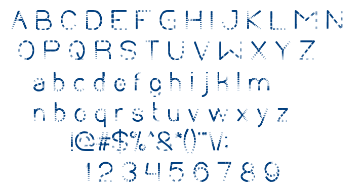 CHASING TAIL font