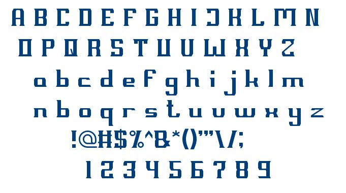 MILLENIUM 3 font
