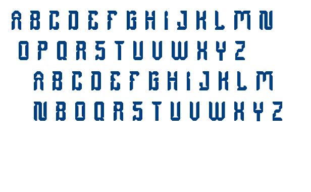 dayak shield font
