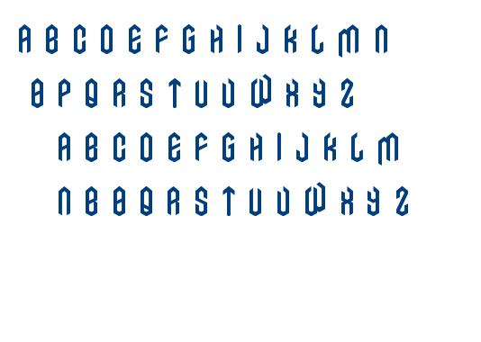 AXE font