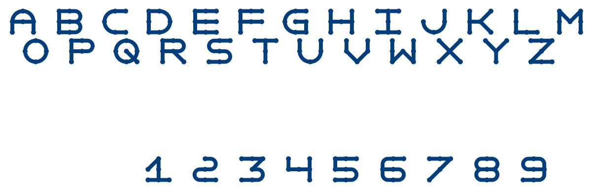 Anaglyphos font