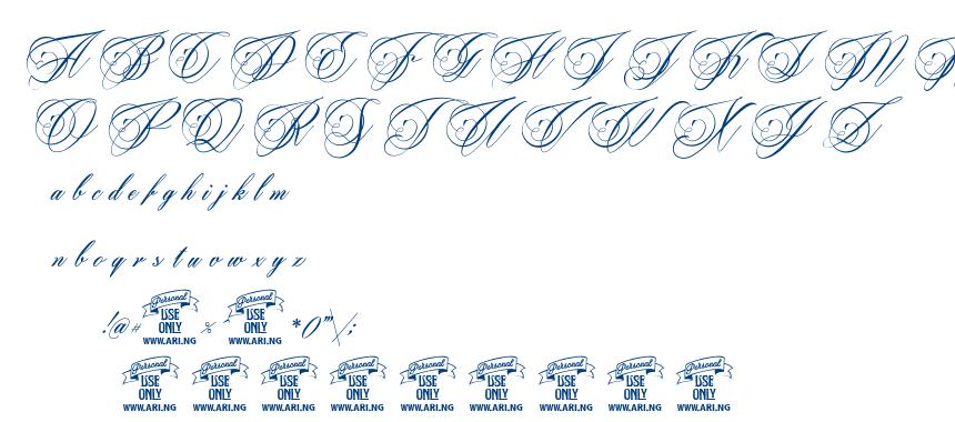 Beaked Tyrant font