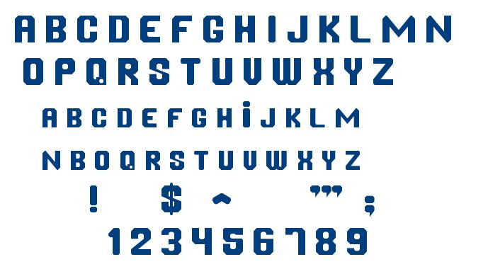 Chanfrada font