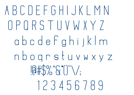 Mathematical font