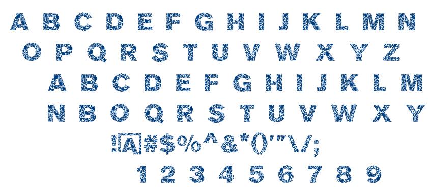 Mosaic Leaf font