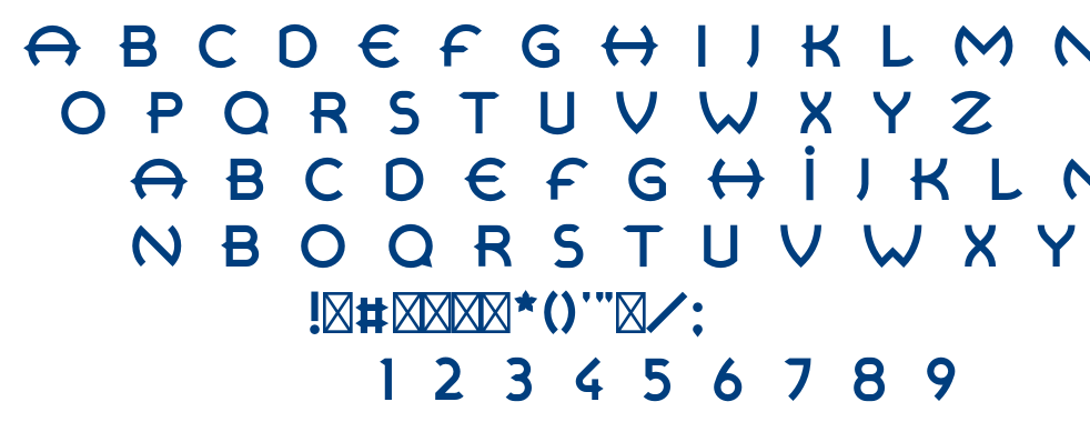 Retrospective font