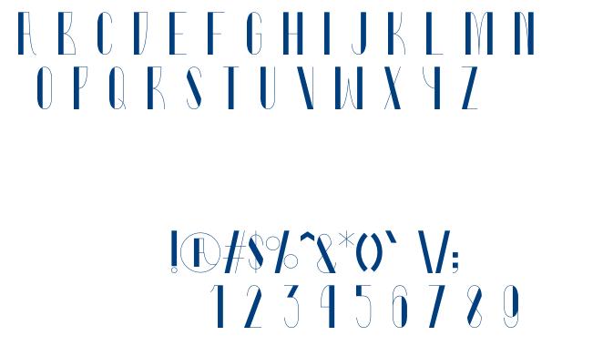 Rhubarb font