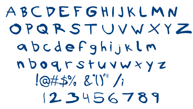 Rubbish font