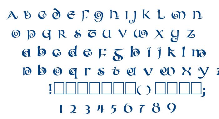 Coileduncial font