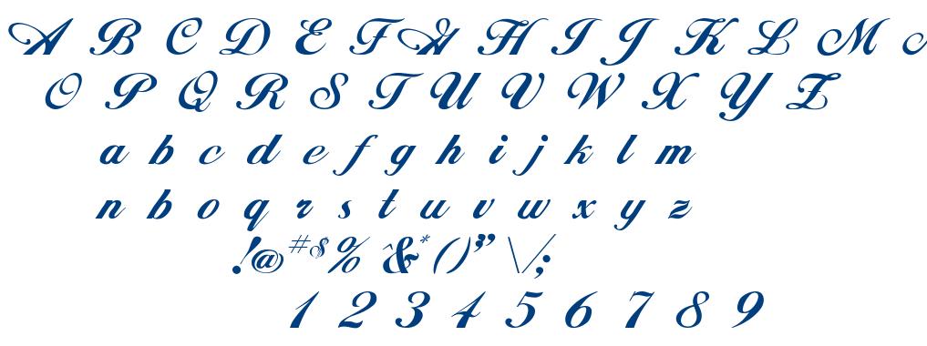 Hancock font