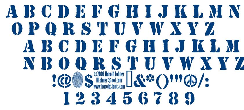 Jjstencil font