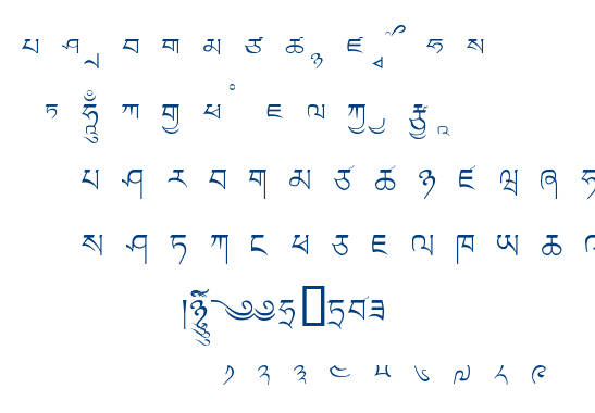Ltibetan font