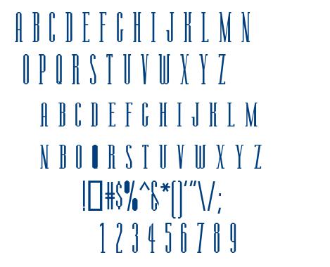 Manzanita font