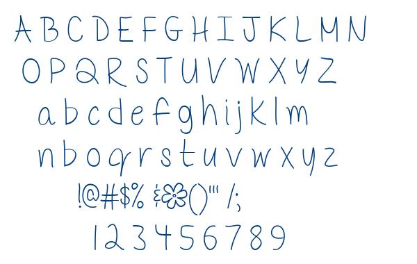 Mf Delicate Little Flower font