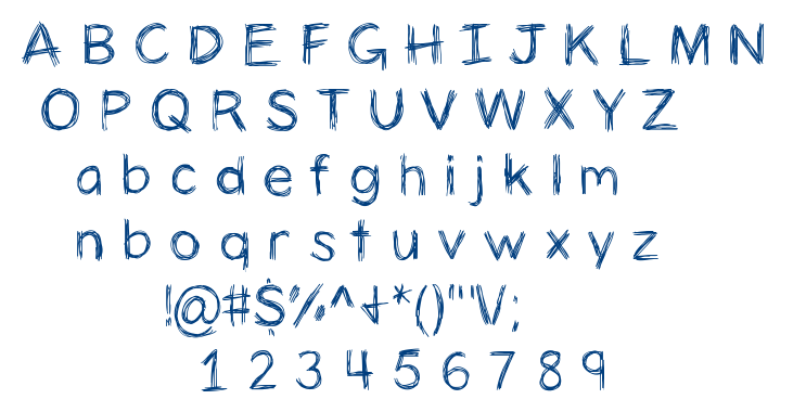 Anics Tricken font