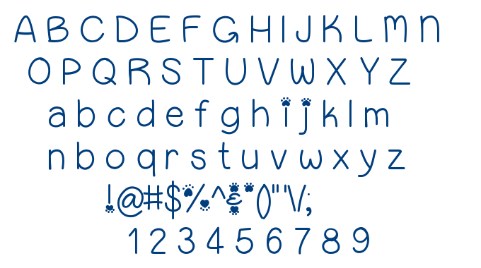 Uppy Bellies font