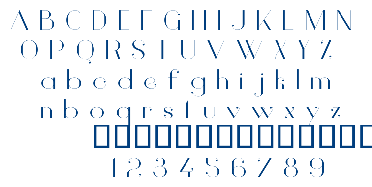 Vanity font