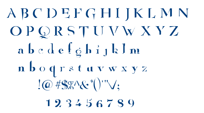 Angelized font