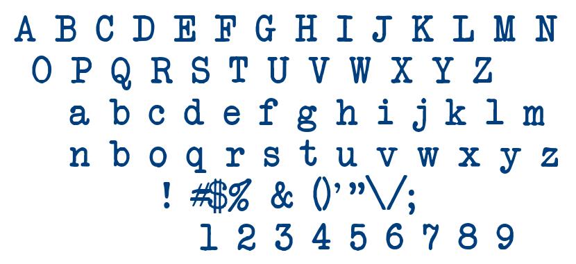 Atwriter font